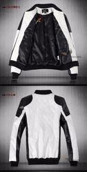 Модная куртка черно-белая
